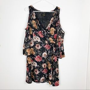 Alexia Ardmore Floral Peep Shoulder Dress